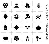 natural icons. vector...   Shutterstock .eps vector #773719216