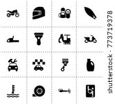 motor icons. vector collection...