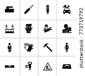 worker icons. vector collection ...