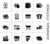 commerce icons. vector...