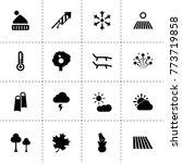 season icons. vector collection ...