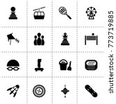 leisure icons. vector... | Shutterstock .eps vector #773719885