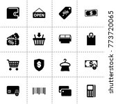 retail icons. vector collection ...