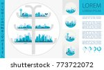 city skyline sets | Shutterstock .eps vector #773722072