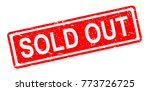 Sold Out Stamp Vector...