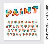 typographic alphabet collection ... | Shutterstock .eps vector #773728885