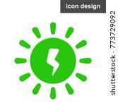 solar energy ecology icon   Shutterstock .eps vector #773729092