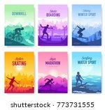 colorful covers with various... | Shutterstock .eps vector #773731555