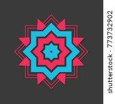 arabic ornate mandala | Shutterstock .eps vector #773732902