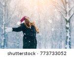 winter young woman portrait.... | Shutterstock . vector #773733052