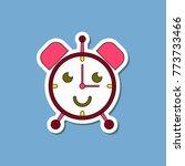 paper sticker on stylish... | Shutterstock .eps vector #773733466