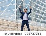 successful businessman in suit. ... | Shutterstock . vector #773737366