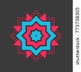 arabic ornate mandala | Shutterstock . vector #773738305