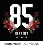 varsity slogan graphic | Shutterstock .eps vector #773741056