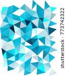 light blue vertical abstract... | Shutterstock . vector #773742322