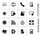 mobile icons. vector collection ...
