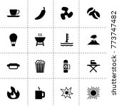 hot icons. vector collection...