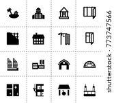 exterior icons. vector...   Shutterstock .eps vector #773747566