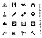 industrial icons. vector...