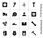 power icons. vector collection... | Shutterstock .eps vector #773747632