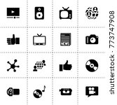 media icons. vector collection...