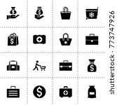bag icons. vector collection...