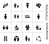 people icons. vector collection ... | Shutterstock .eps vector #773747956