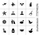 nature icons. vector collection ...   Shutterstock .eps vector #773748196