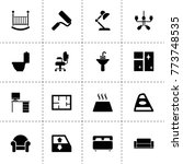 interior icons. vector... | Shutterstock .eps vector #773748535