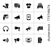 speaker icons. vector...