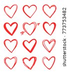 vector hand drawn collection of ... | Shutterstock .eps vector #773753482