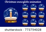 christmas snowglobe animation....   Shutterstock .eps vector #773754028