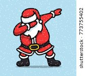 santa claus  standing  dancing  ... | Shutterstock .eps vector #773755402