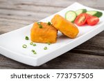 delicious fried parmesan cheese ... | Shutterstock . vector #773757505