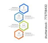 hexagon infographic template... | Shutterstock .eps vector #773758432