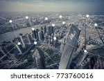 network and connection concept... | Shutterstock . vector #773760016