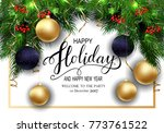 holidays greeting card for... | Shutterstock .eps vector #773761522
