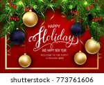 holidays greeting card for... | Shutterstock .eps vector #773761606