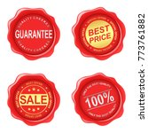 old wax stamp realistic... | Shutterstock . vector #773761882