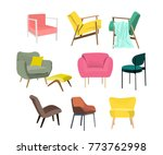vector chair collection... | Shutterstock .eps vector #773762998
