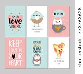 set of greeting cards for... | Shutterstock .eps vector #773763628