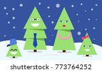christmas fur tree family at... | Shutterstock .eps vector #773764252
