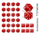 set of isometric dice... | Shutterstock .eps vector #773768248