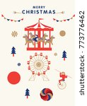 christmas greetings template... | Shutterstock .eps vector #773776462