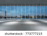 empty floor and cityscape of... | Shutterstock . vector #773777215