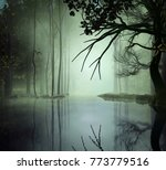 3d illustration of a forest... | Shutterstock . vector #773779516