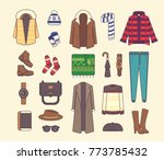 big set of stylish winter... | Shutterstock .eps vector #773785432