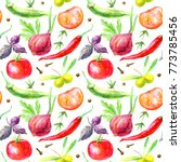 seamless pattern of a... | Shutterstock . vector #773785456
