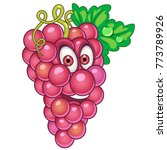 cartoon grapes. happy fruit and ... | Shutterstock .eps vector #773789926