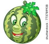 cartoon watermelon. happy fruit ...   Shutterstock .eps vector #773789938